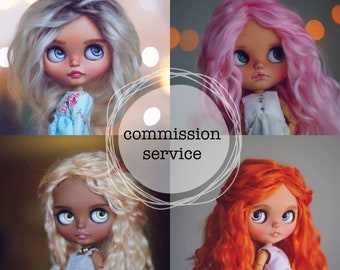 Ooak blythe custom doll commission service