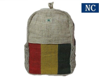 f852c661b580 Nepali Handmade Pure Hemp Rasta Backpack with Laptop Sleeve - Fashion Cute  Travel School College Shoulder Bag   Bookbags   Daypack