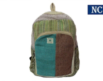 c72bbda95c53 Pure Hemp Stripe Handmade Himlayan Backpack ( THC FREE) with Laptop Sleeve  - Fashion Cute Travel School College Shoulder Bag   Bookbags   Da