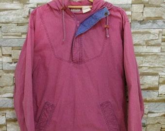3f5c726f2 MEGA SALE Vintage Ll Bean RARE Jacket Hooded Pullover Half Zipper