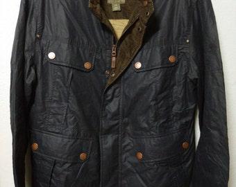 87f5245bc MEGA SALE Vintage Timberland Jacket Abingtown Coats Military Navy Blue  Black Bomber Coats Timberland