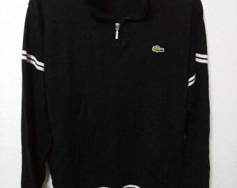 e3dbe04a1 MEGA SALE Vintage Lacoste 90 s Sweatshirt jacket Knit