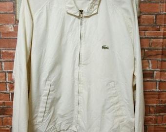 b8a2f9800 MEGA SALE 80 s Vintage IZOD Lacoste Jacket Harrington Style Size L