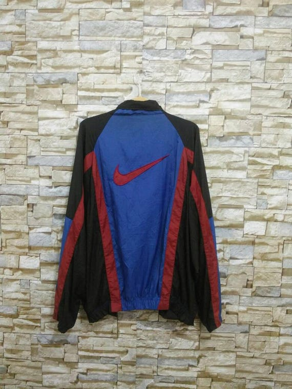 82b926bce0d8 Vintage Nike Windbreaker Jacket Nylon Color Block Rare Nike