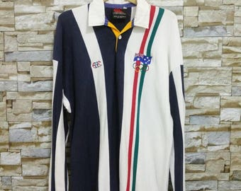 Vintage 90's Canterbury Of New Zealand Polo Shirt Jersey Rugby Embroidered Olympic Canterbury Australia Size M