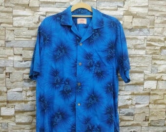 1950s Ui-Maikai Hawaiian Shirt Vintage Button Down Pineapple Hawaii