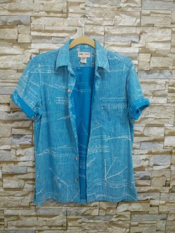 Vintage Cooke Street Honolulu Shirt Made in Hawaii Usa Small Rare Designer Fashion Hawaiian Sun Surf HEzuYlboxY