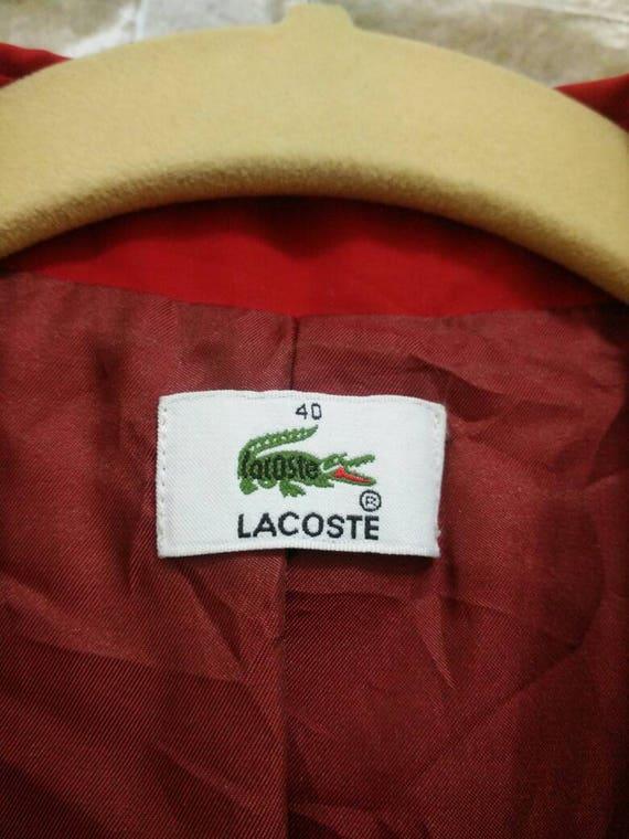 b9337f7ac MEGA SALE Vintage Lacoste Jacket Rain Coat Size 40
