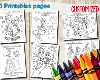 Frozen coloring pages | Etsy