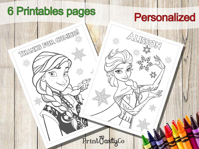 Frozen Coloring Pages, Frozen Party Favors, Frozen Birthday, Party Favor,  Frozen coloring book, Frozen activities