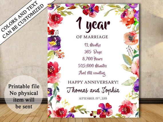 1st Anniversary Gift 1st Year Wedding Anniversary 1st Etsy