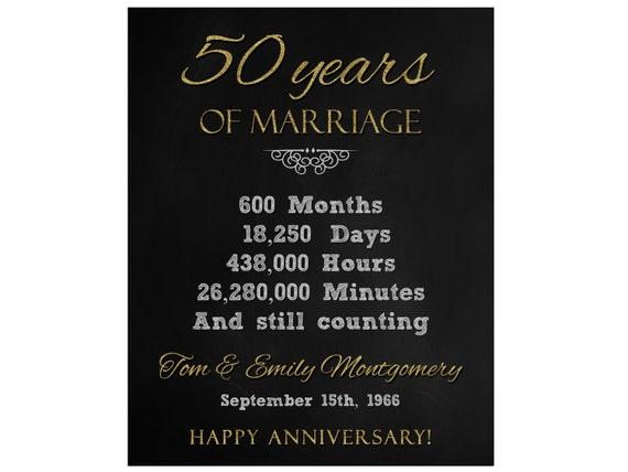 50 Jarig Huwelijk Jubileum Cadeau Printbaar Digitaal Bestand Gepersonaliseerd 50e Verjaardag Cadeau Voor Koppels 50e Verjaardag Schoolbord
