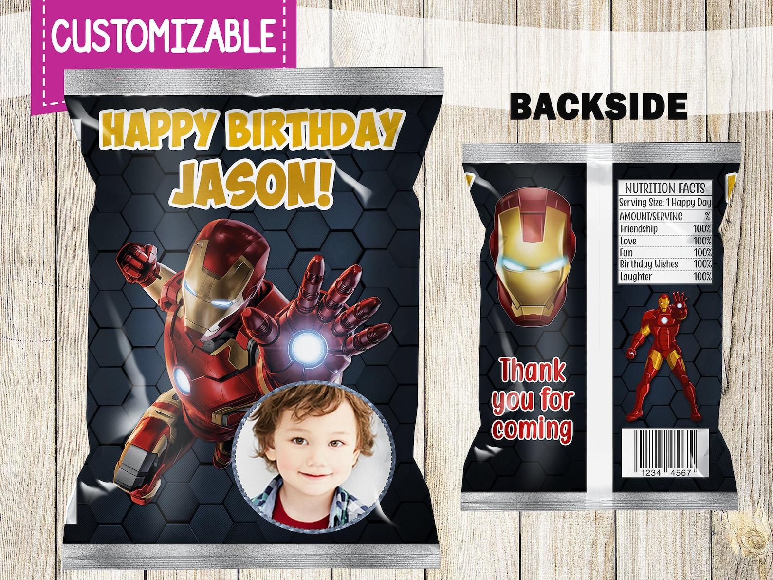 Printable Iron Man Chip Bags