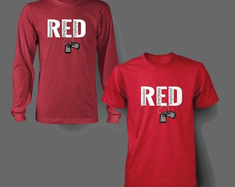 RED Friday Dog Tags t shirt