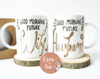 Couple cups to personalize with gift box-Create your own!