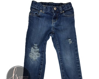Simple Distress Jeans Boys Girls Baby Toddler Pants Custom Gift