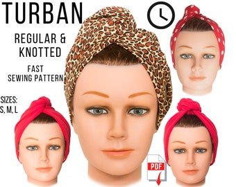 Turban Hat PDF download, sew, pattern, trendy, piece of conversation, ice breaker, embrace, easy sewing, express yourself