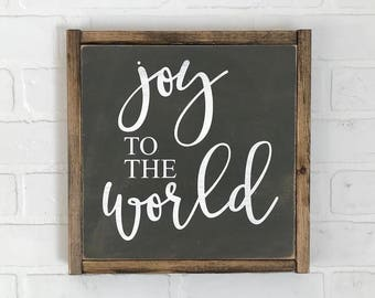 Joy To The World Sign | Christmas Sign | Farmhouse Christmas | Farmhouse Holiday | Christmas Decor | Hand Painted