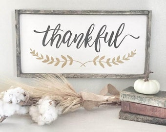 "THANKFUL SIGN | 11.75""x25.5"" 