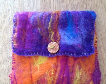 Hand felted purse.