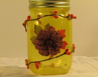 Yellow Fall Jar