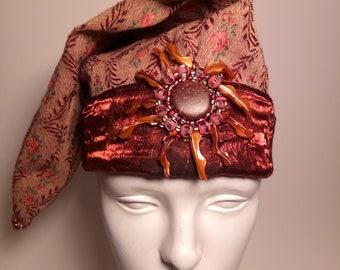 Sunburst Mother of Pearl Wizard Hat