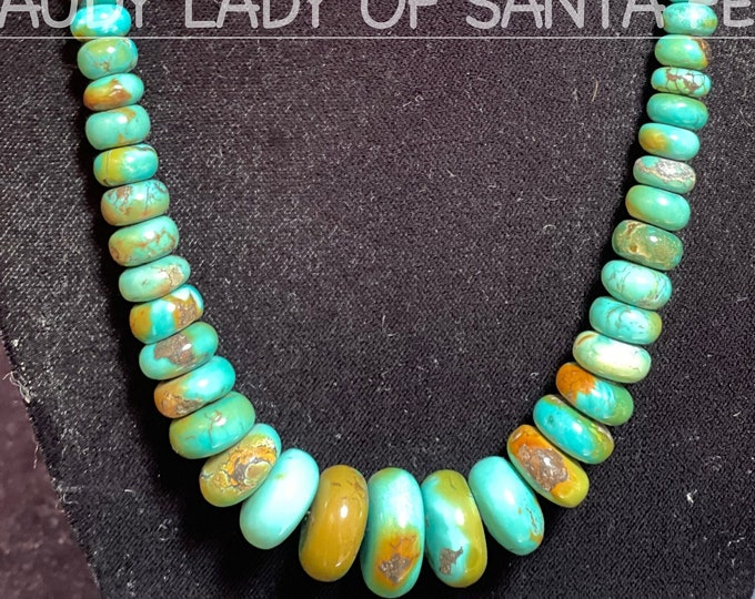 Green Turquoise Rondelle Necklace