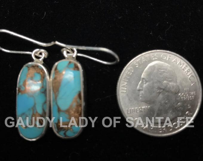 Turquoise Earrings Elongated Drop Dangle