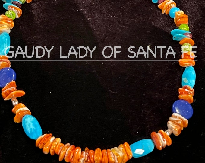 Spiny Oyster Turquoise Lapis Necklace