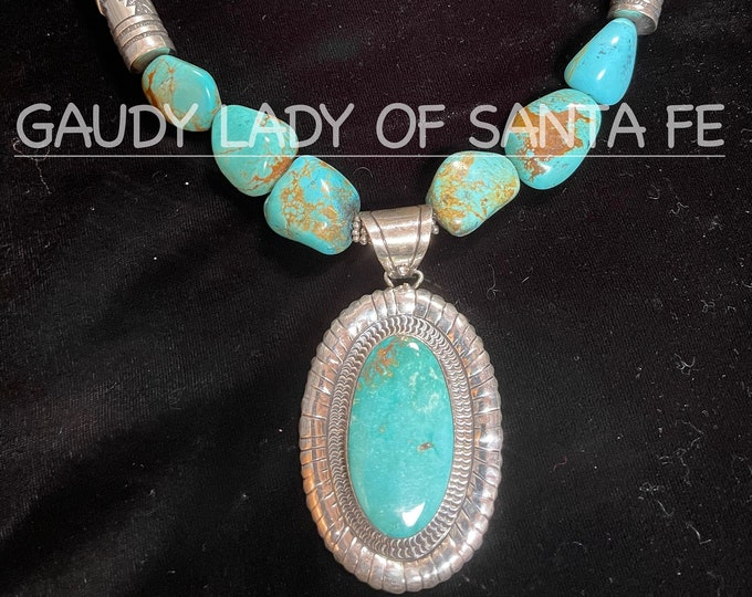 Turquoise Sterling Necklace and Pendant