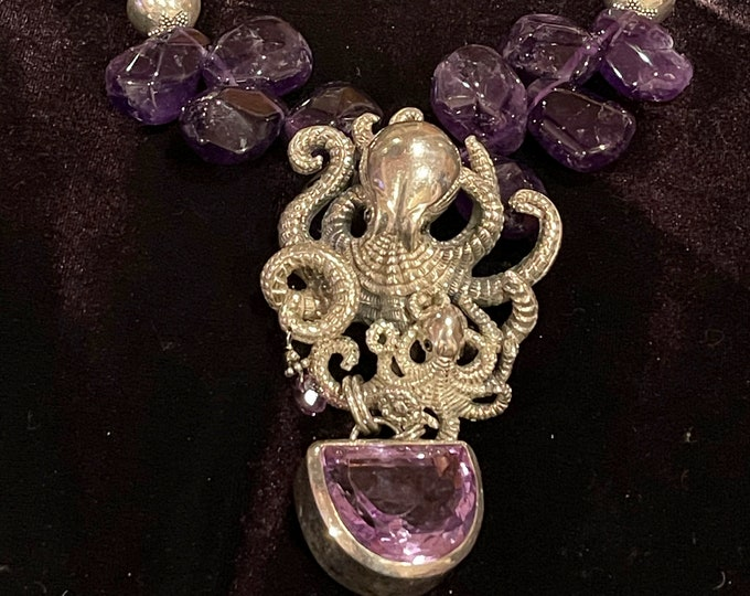 Amethyst Octopus Necklace