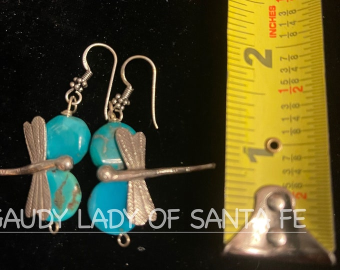 Turquoise Dragonfly Earrings