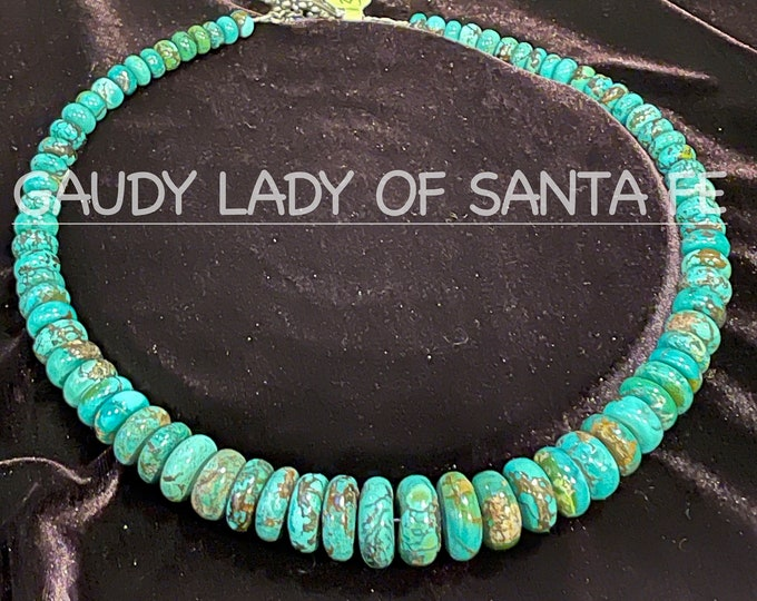 Turquoise Blue Green Roundel Necklace