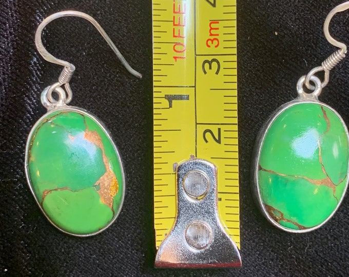 Mojave Green Turquoise Oval Earrings