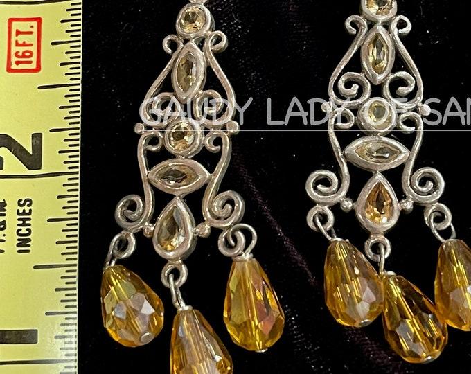 Sterling Citrine Earrings