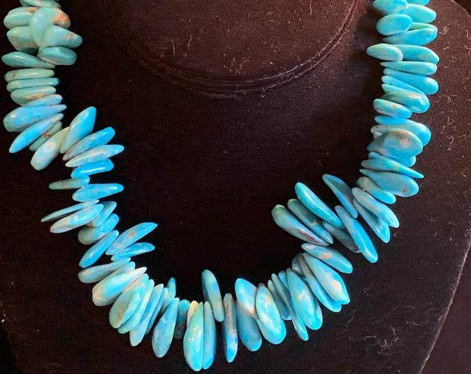 Turquoise Teardrop Necklace