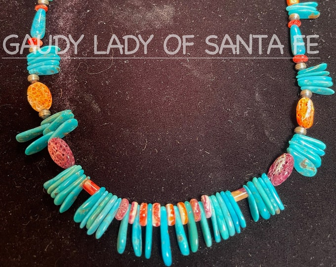 Turquoise Spiny Oyster Navajo Pearls