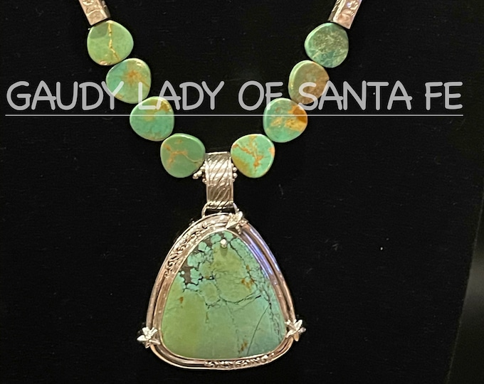 Green Turquoise Necklace Pendant
