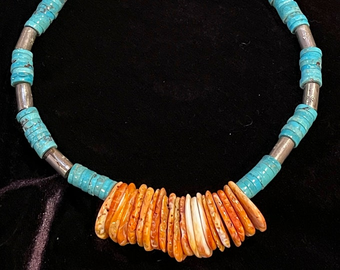 Turquoise Spiny Oyster Choker