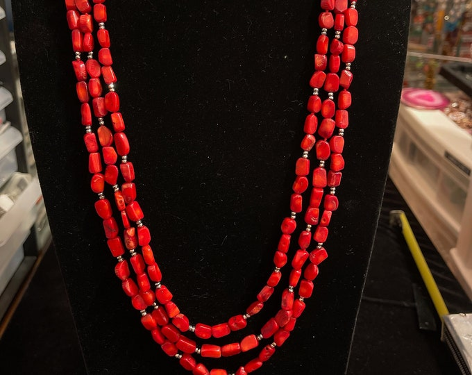 Coral Necklace Touch of Bling Bamboo Coral