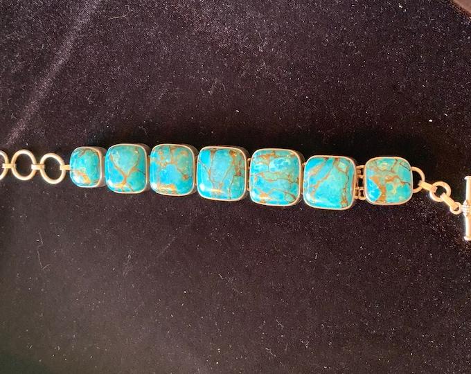 Turquoise Bracelet Copper Matrix