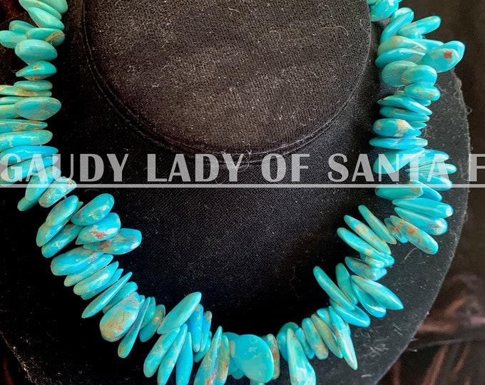Turquoise Teardrops Graduate stones, Blue Turquoise