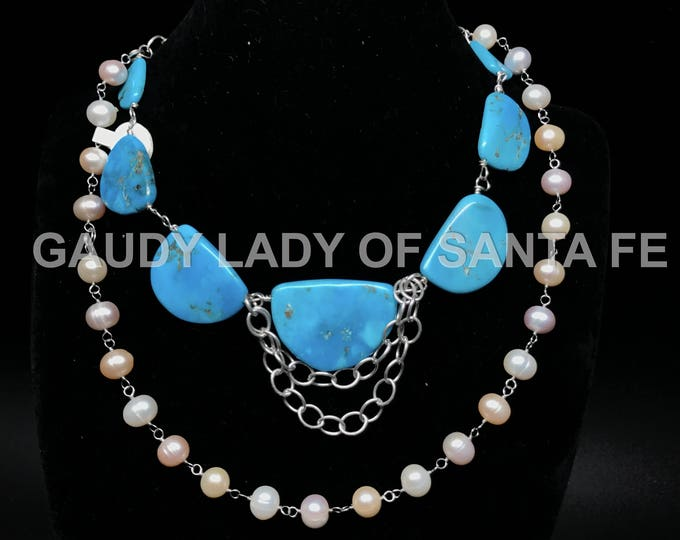 Turquoise Pearls Chain