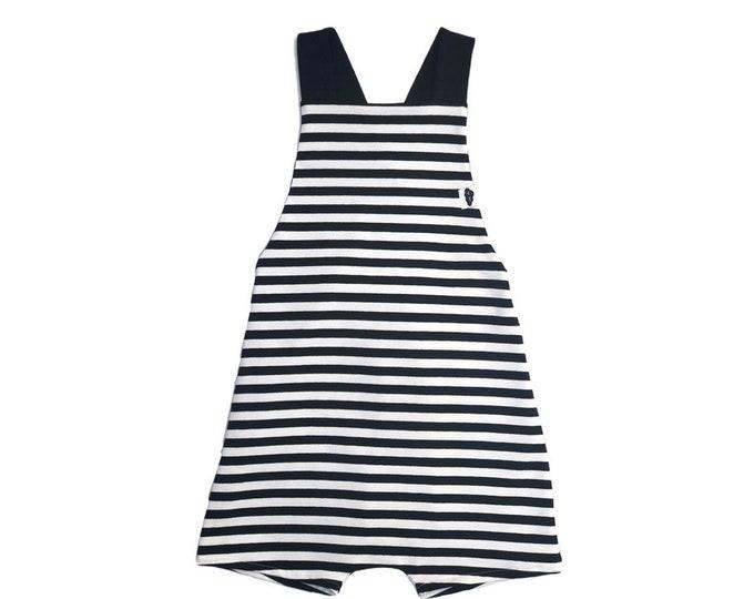 Short overalls stripes