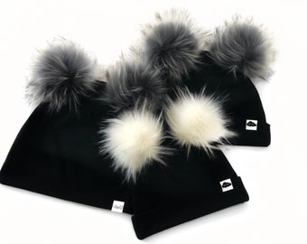 Double Pompon cap of your choice