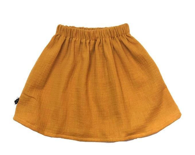 Cotton gauze skirt