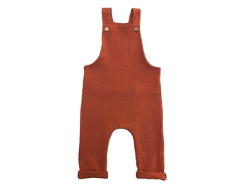 Cotton Double Gaze overalls