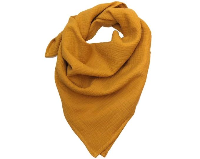 Mustard cotton gauze