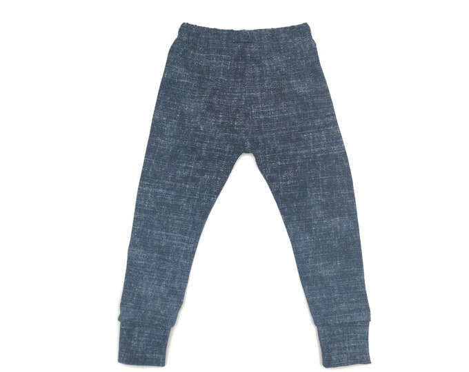 Raw denim legging