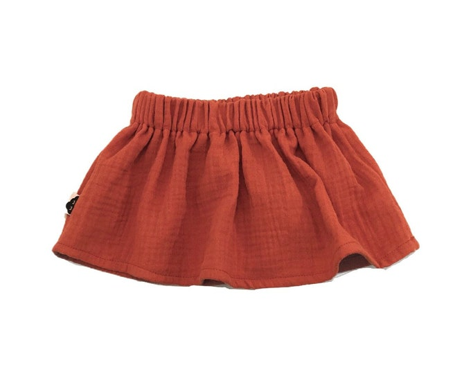 Cotton gauze skirt copper